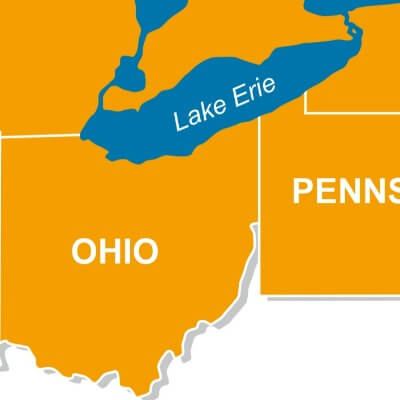 A Map of Lake Erie