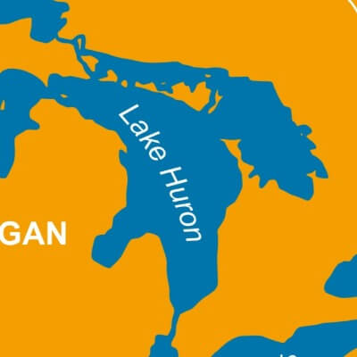 A Map of Lake Huron