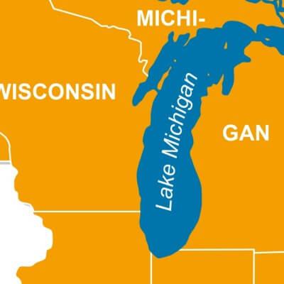 A Map of Lake Michigan