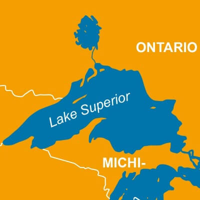 A Map of Lake Superior