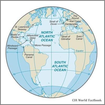 A Map of the Atlantic Ocean