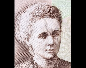 A picture of Marie Curieo on Polish currency.