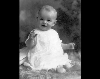 A picture of Marilyn Monroe as a baby