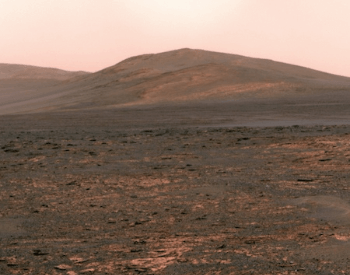A picture of the mars landscape from the Rover Opportunity.