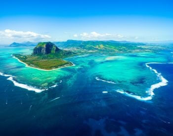 A picture of Mauritius Island in the Indian Ocean