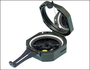 A compass used by soliders in the military