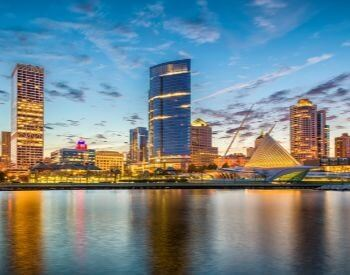 A picture of Milwaukee, the most populated city in Wisconsin