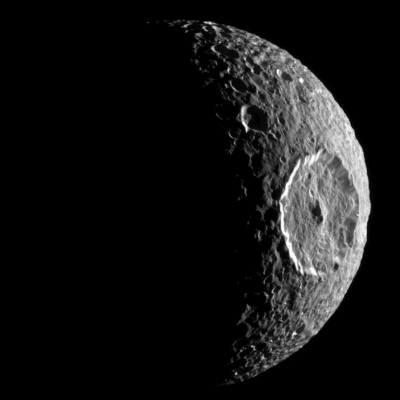 A Picture of Saturn's Moon Mimas