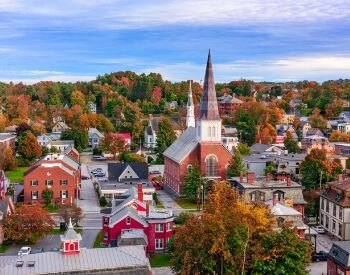 A picture of Montpelier, the capital city of Vermont