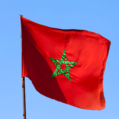 A Picture of Morocco Flag
