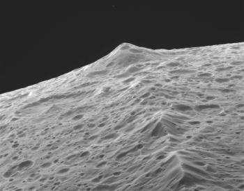 A photo of a mountain on the moon Iapletus