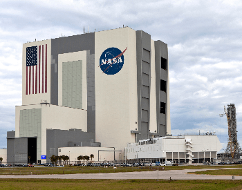A photo of the official NASA Vehicle Assembly Building