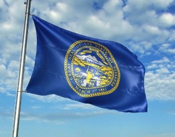 A picture of the flag of the U.S. state of Nebraska