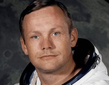 A photo of Neil Armstrong, the first man on the moon