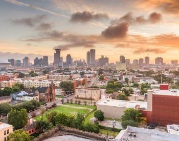 A picture of New Orleans, the most populated city in Louisiana, USA