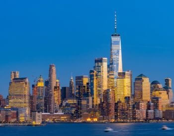 A picture of New York City, the most populated city in New York