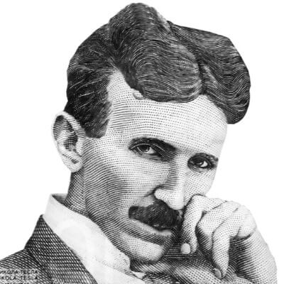A Picture of Nikola Tesla