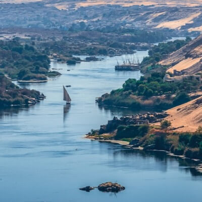 A Map of the Nile River