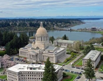 A picture of Olympia, the capital city of Washington
