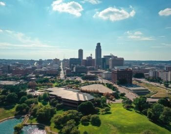 A picture of Omaha, the largest city in Nebraska