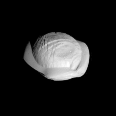 A Picture of Saturn's Moon Pan