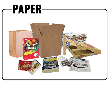 A picture showing what paper products you can recycle