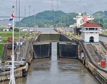 A picture of the Pedro Miguel Locks at the Panama Canal