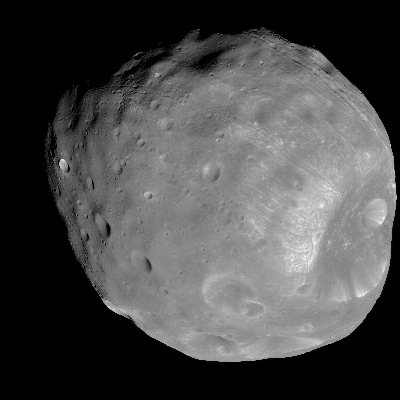 A Picture of the Moon Phobos