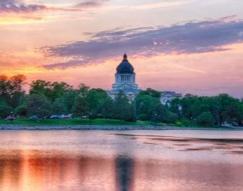 A picture of Pierre, the capital city of South Dakota