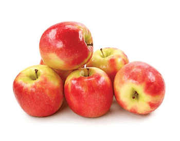 A picture of pink crisp apples