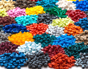 A picture of plastic pellets used to make plastic products