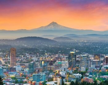 A picture of Portland, the most populated city in Oregon