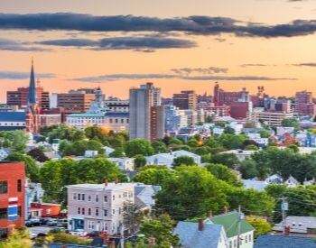 A picture of Portland, the most populated city in Maine, USA