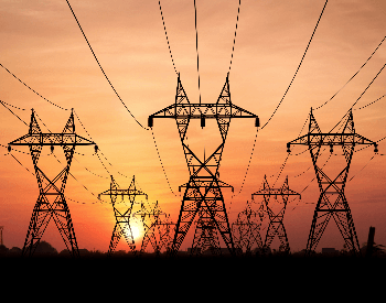A picture of power lines moving electricity