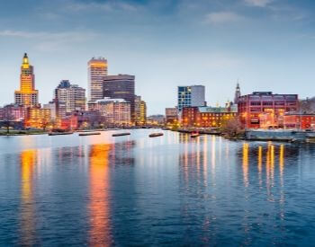 A picture of Providence, the capital city of Rhode Island
