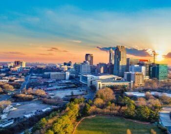 A picture of Raleigh, the capital city of North Carolina