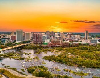 A picture of Richmond, the capital city of Virginia