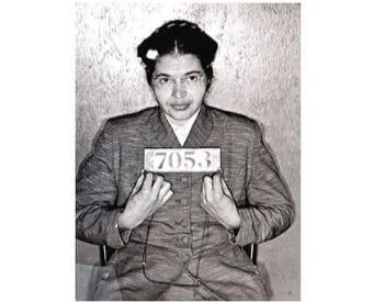 A picture of Rosa Parks booking photo from 1956