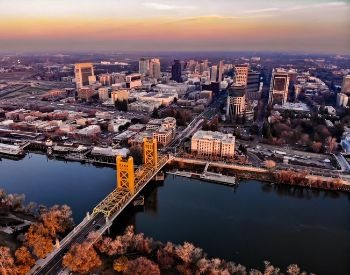 A picture of Sacramento, the capital city of California