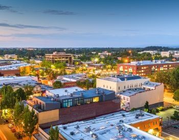 A picture of Salem, the capital city of Oregon