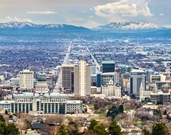 A picture of Salt Lake City, the capital city of Utah