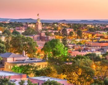 A picture of Sante Fe, the capital city of New Mexico