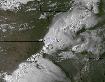 A Satellite Image of the Storm That Produced the 2011 Joplin Tornado