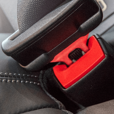 A picture of a three-point seat belt