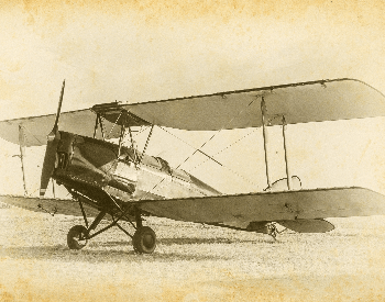 A picture of a sketch of a vintage biplane