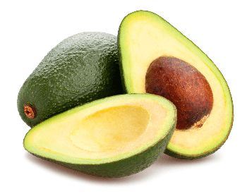 A picture of an avocado sliced open