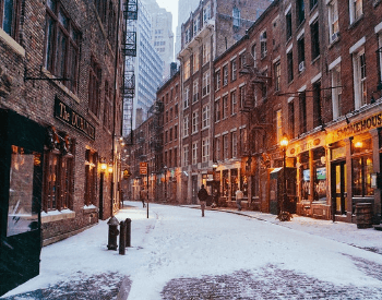 Snow in New York City, New York