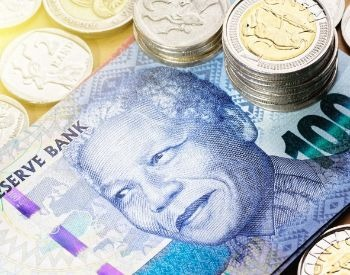 A picture of a South African banknote with Nelson Mandela's picture