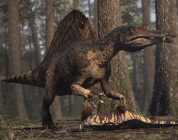 spinosaurus eating its prey
