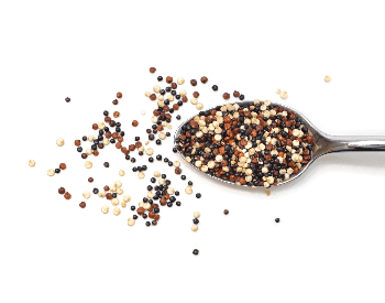 A picture of a spoon of quinoa